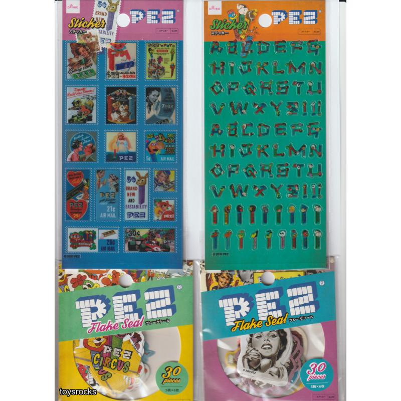 PEZ Stickers and flake seals